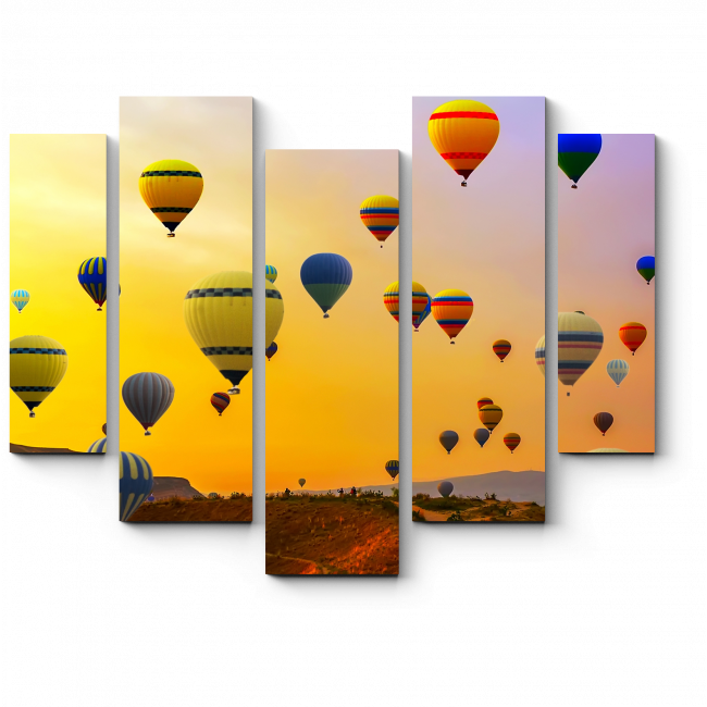 Модульная картина Воздушное путешествие над Турцией
