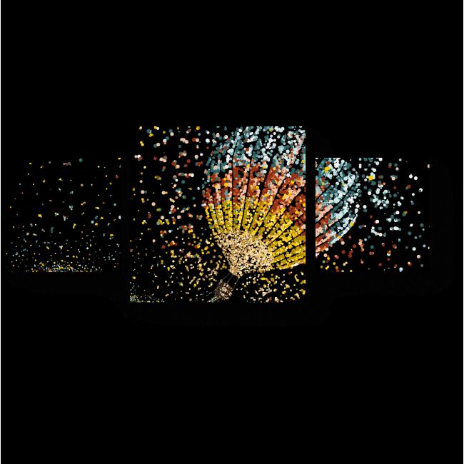 Модульная картина Сияющий воздушный шар