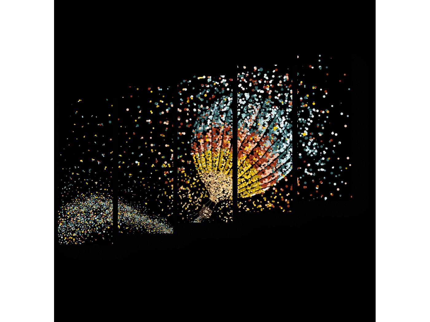 Модульная картина Сияющий воздушный шар (90x63) фото
