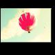 Воздушный шар в мятном небе