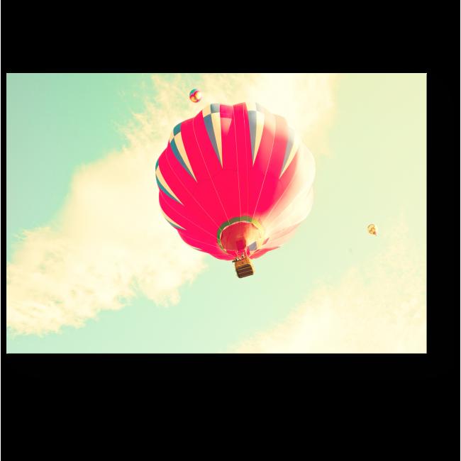 Модульная картина Воздушный шар в мятном небе