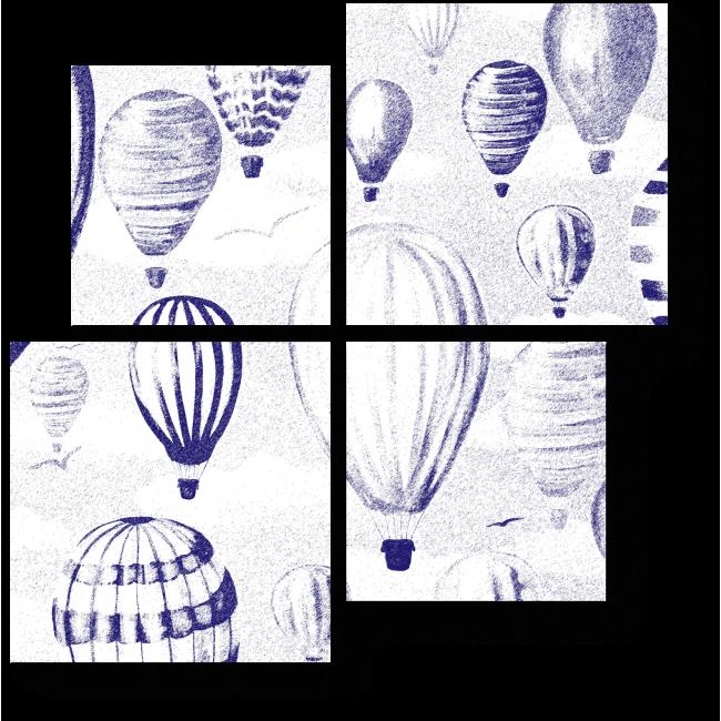Модульная картина Фестиваль воздушных шаров
