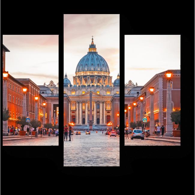 Модульная картина Римские каникулы