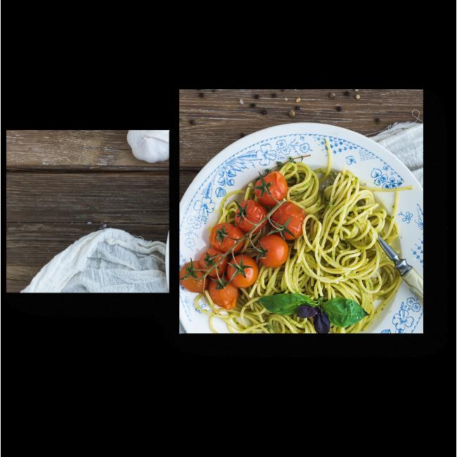 Модульная картина Паста с томатами
