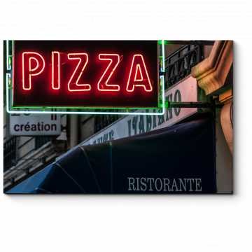 Модульная картина Парижская пиццерия