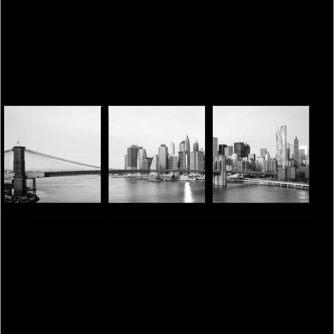 Модульная картина Черно-белый Манхэттен