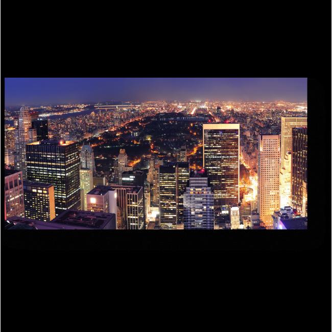 Модульная картина Огни ночного Нью-Йорка
