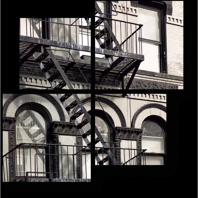 Модульная картина История Нью-Йорка в зданиях