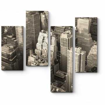 Модульная картина Над крышами небоскребов
