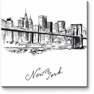 Модульная картина С любовью из Нью-Йорка