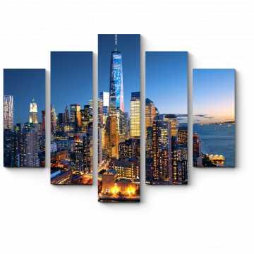 Модульная картина Красивые огни Манхэттена