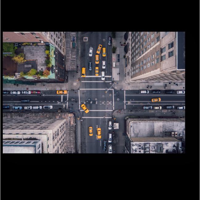 Модульная картина Нью-Йорк с высоты