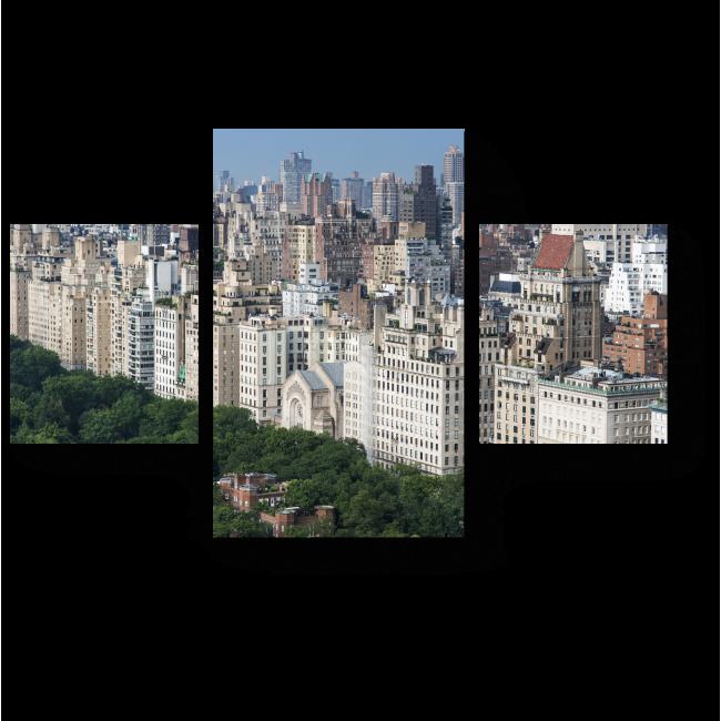 Модульная картина Прекрасная зелень Центрального Парка