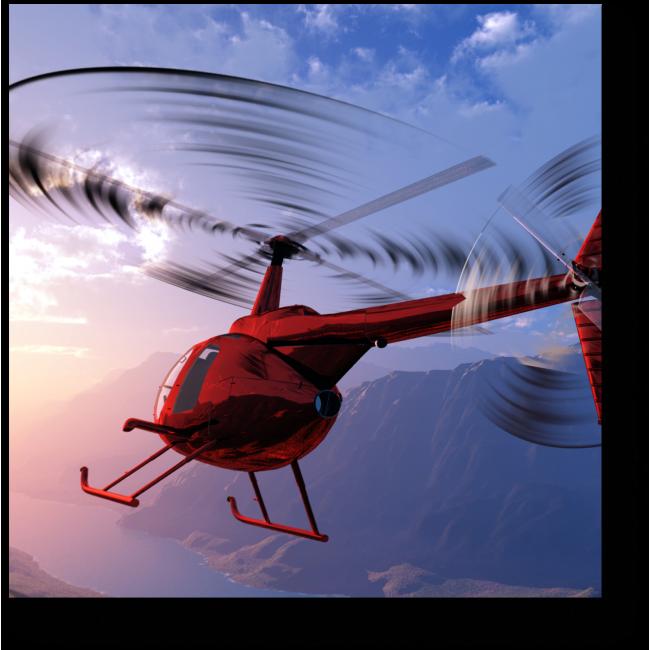 Модульная картина Красный вертолет