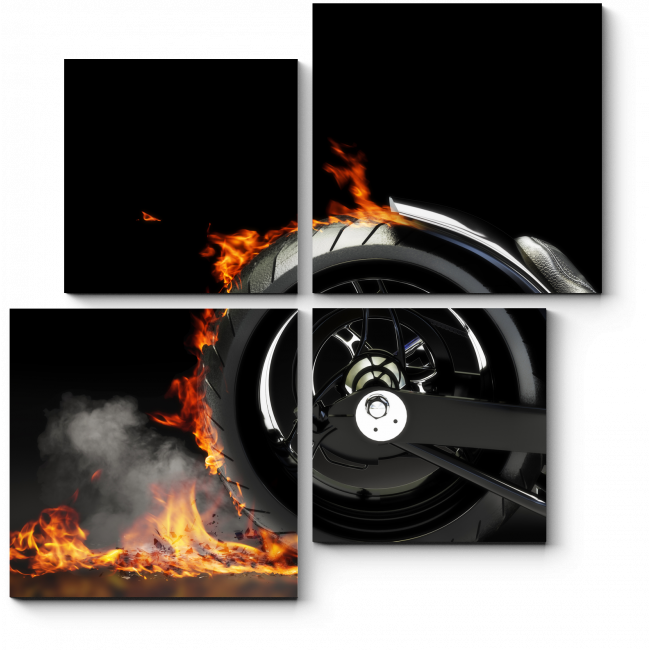 Модульная картина Огненный след