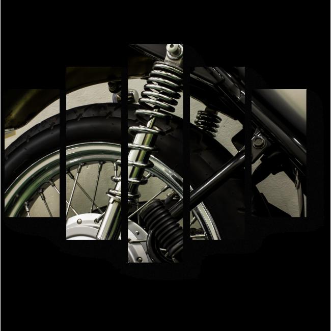 Модульная картина Колесо мотоцикла
