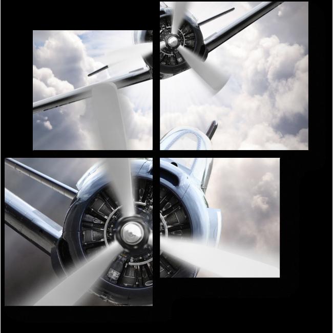 Модульная картина Наперегонки с ветром
