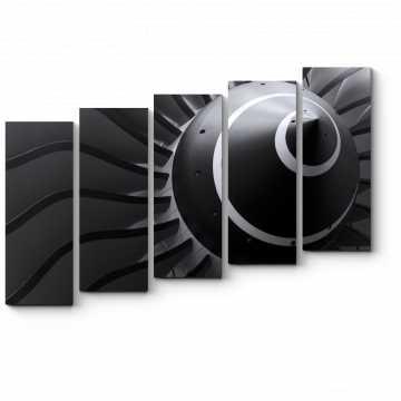 Модульная картина Турбина самолета