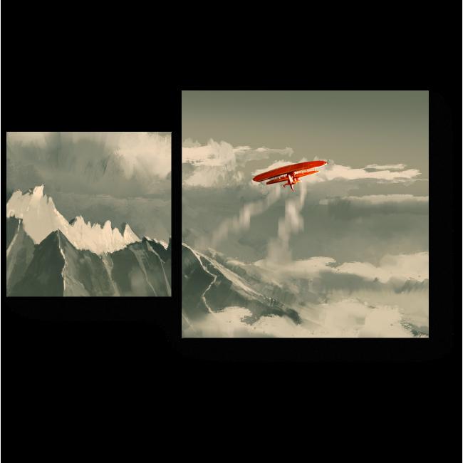 Модульная картина Белоснежный полет