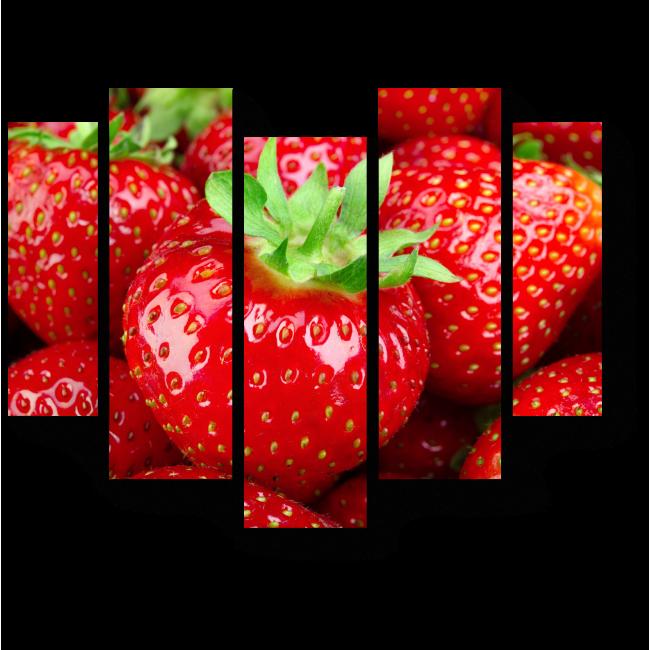 Модульная картина Спелые ягоды клубники