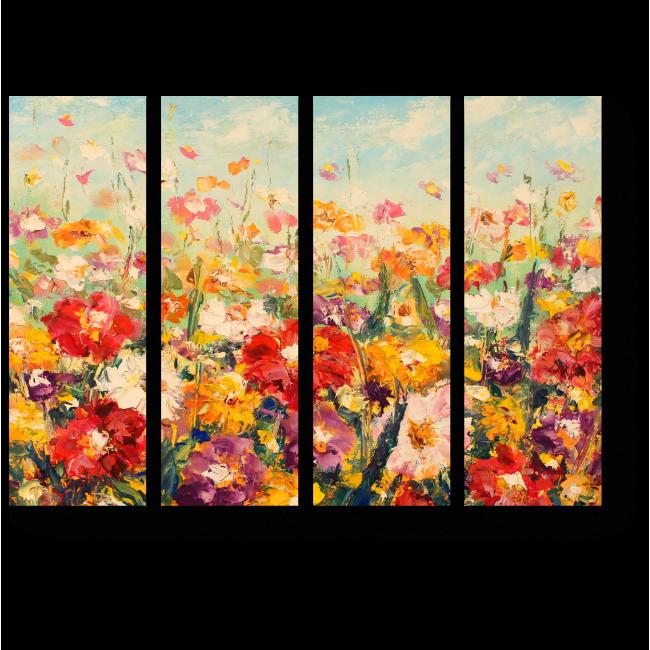 Модульная картина Весенний расцвет