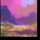 Яркие цветы у подножия гор