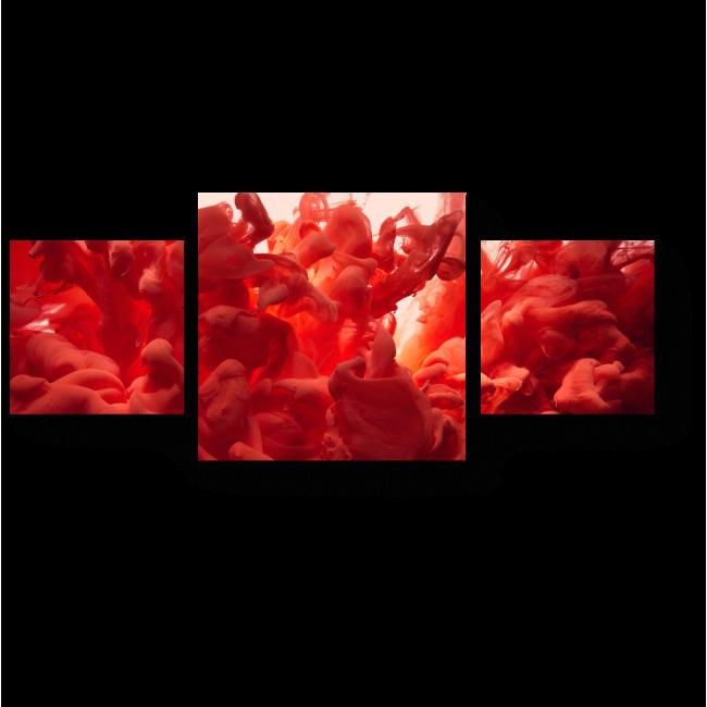 Модульная картина Глубокий красный