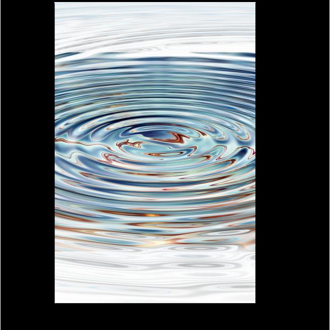 Модульная картина Круги на воде
