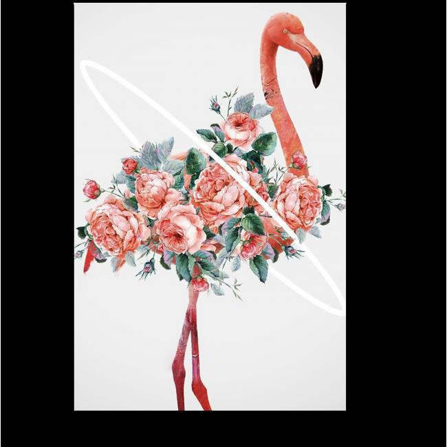 Модульная картина Изящный фламинго