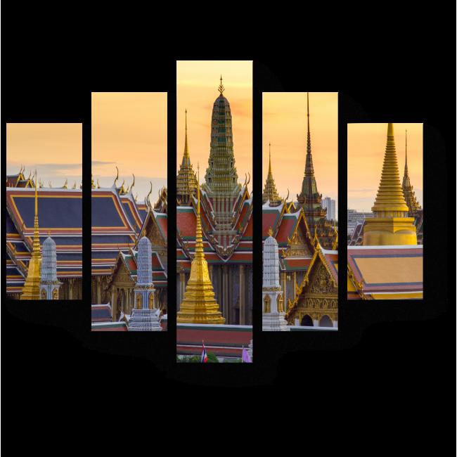 Модульная картина Закат в Банкоке
