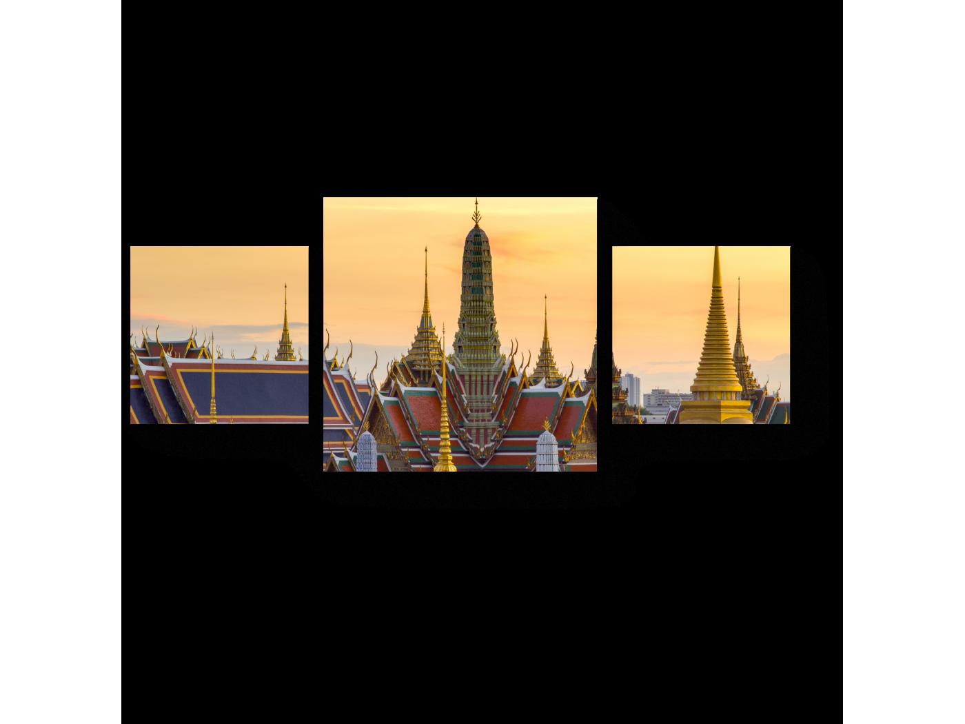 Модульная картина Закат в Банкоке (70x30) фото