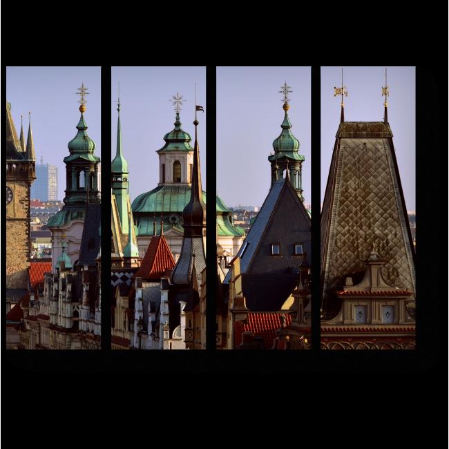Модульная картина Крыши старой Праги
