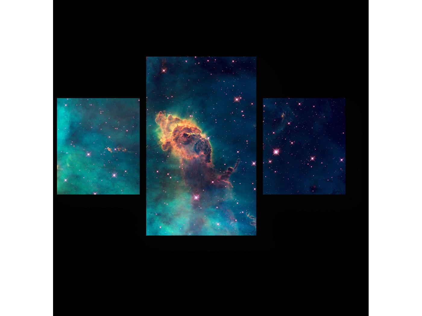 Модульная картина Звездная Вселенная (80x52) фото
