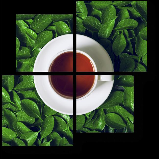 Модульная картина Зеленый чай