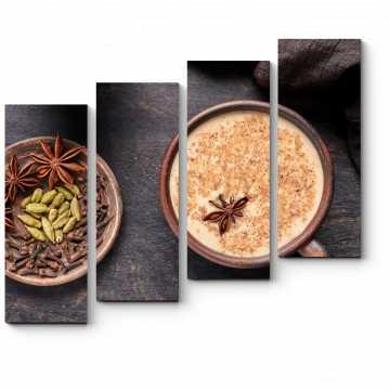 Модульная картина Индийский чай латте