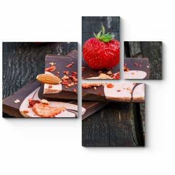 Домашний шоколад и клубника