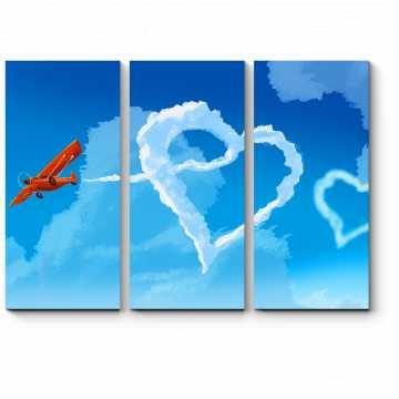 Модульная картина Воздушное сердце