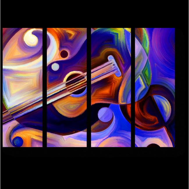Модульная картина Сердце музыки