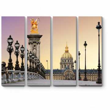 Великолепный рассвет в Париже