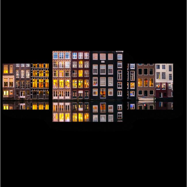 Модульная картина Огни Амстердама