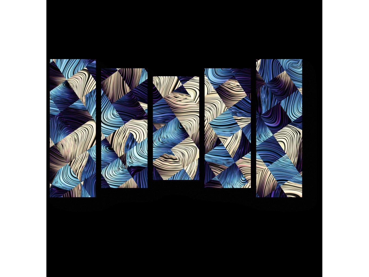 Модульная картина Перплетение (90x54) фото