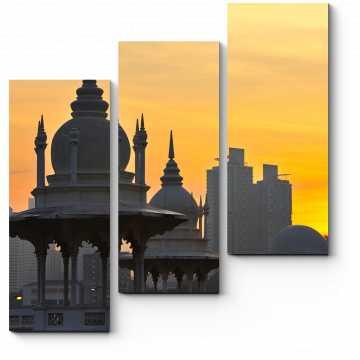 Модульная картина Куала-Лумпур на рассвете