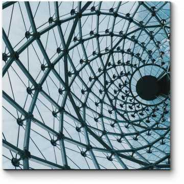 Модульная картина Стеклянный купол бизнес-центра