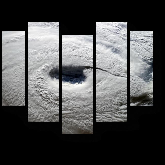 Модульная картина Циклон над Землей