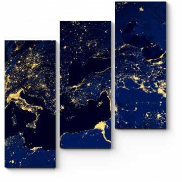 Модульная картина Земля из Космоса прекрасна