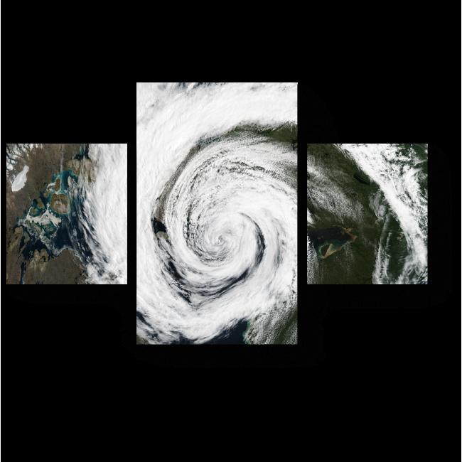 Модульная картина Космический циклон