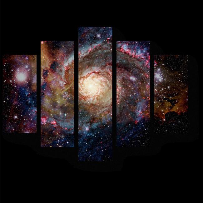 Модульная картина Сияние галактик