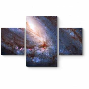 Модульная картина Свет галактик