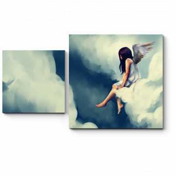 Ангел на облаке