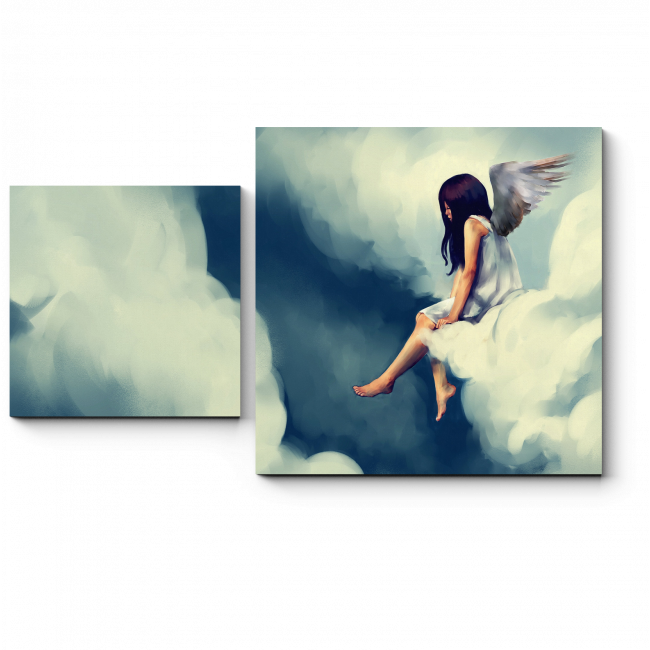 Модульная картина Ангел на облаке